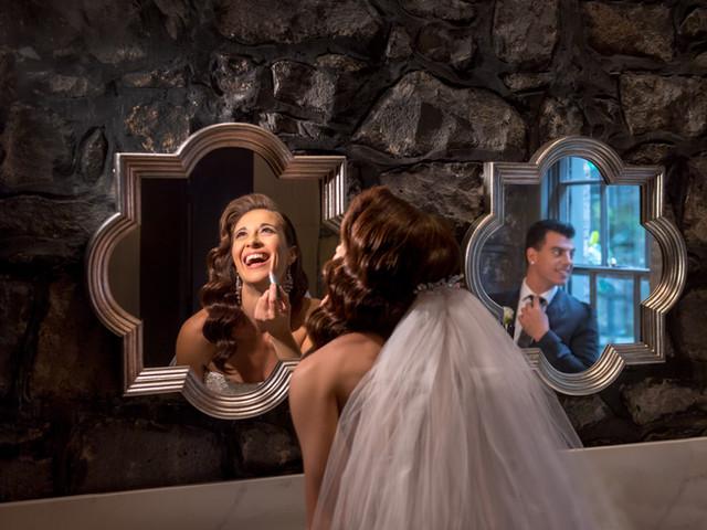 Bride and Groom Reflection | Meadowbank Estate | Wedding Venue | Campbellfield