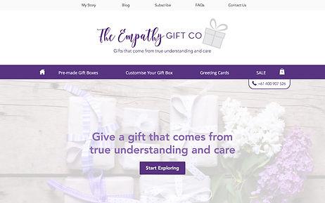 Empathy Gift Co. - Wix Pro Designer