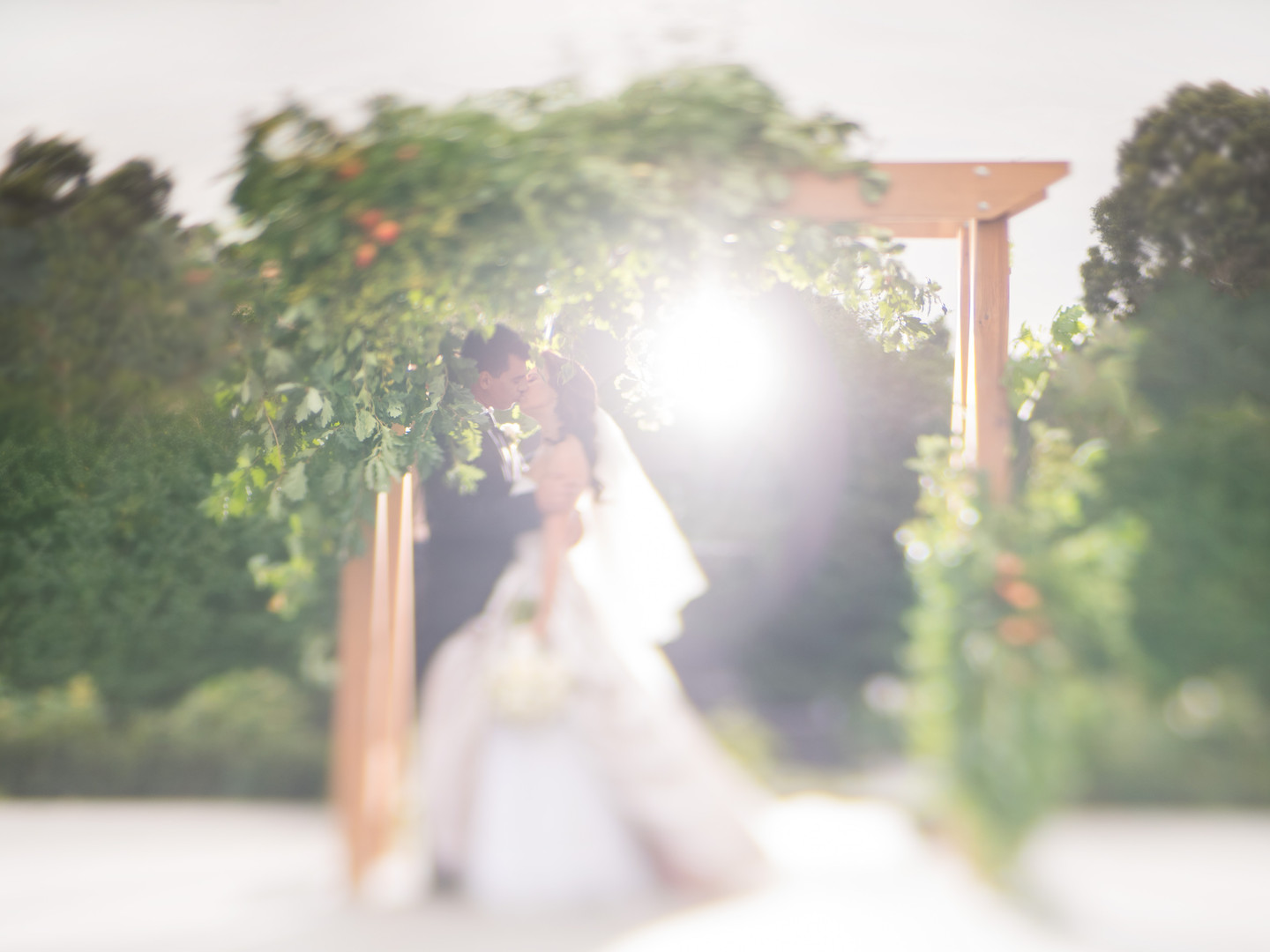 Kissing Under Arch | Meadowbank Estate | Wedding Venue | Campbellfield