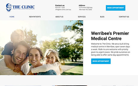 The Clinic One - Wix Pro Designer