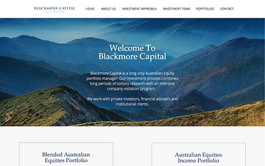 Blackmore Capital - Wix Pro Designer