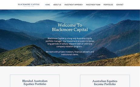 Blackmore Capital - Wix Pro Designer