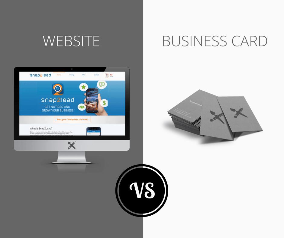 Website Vs Business Card