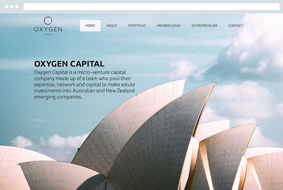 Oxygen Capital made by Capital design