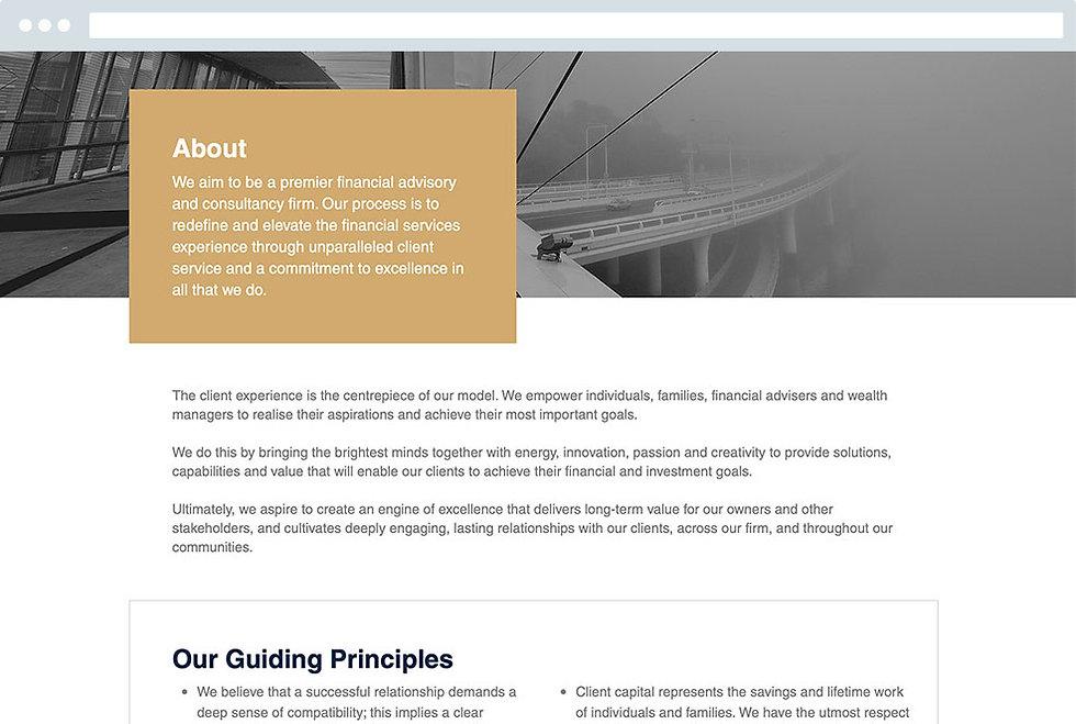 Design Agency Financial Services