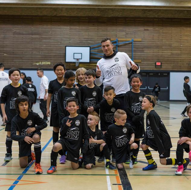 MB School of Soccer Indoor Training