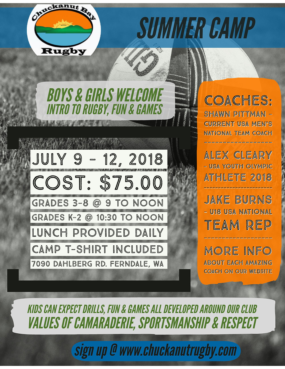 Chuckanut Bay Rugby Summer Camp