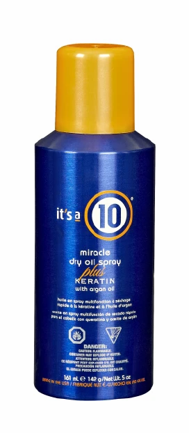 IT'S A 10 MIRACLE DRY OIL SPRAY PLUS KERATIN WITH ARGAN OIL