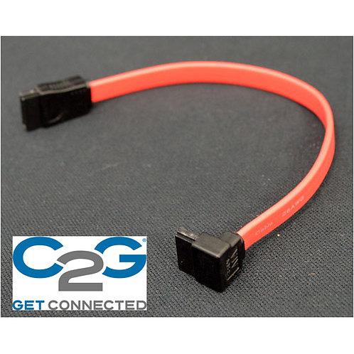 C2G シリアルATAケーブル L型ーストレート(赤色)