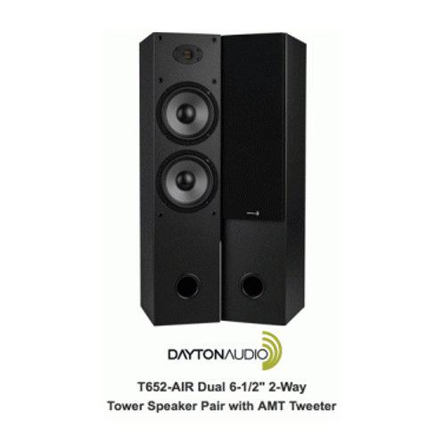 デュアル6.5インチ(16.5センチ)2WAYタワー型スピーカー デイトンオーディオ T652-AIR