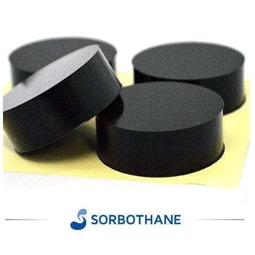 円柱型のソルボセイン 4個セット(粘着テープなし・黒色・4センチ直径/1.5センチ厚)