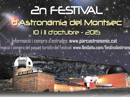 2n Festival d'Astronomia del Montsec, els dies 10 i 11 d'octubre