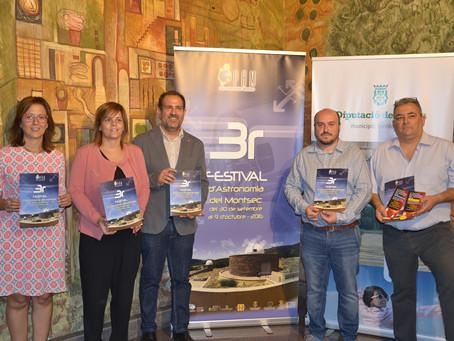 Més de 3.000 persones participaran en el 3r Festival d'Astronomia del Montsec, amb activitats de