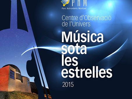 """VI Cicle de """"Música sota les estrelles"""" al Centre d'Observació de l'Univers del Mo"""