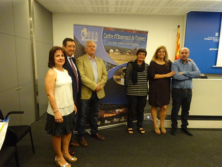 El Parc Astronòmic Montsec (PAM) anomenat ambaixador platí de cels foscos, l'únic a España, de l'Int