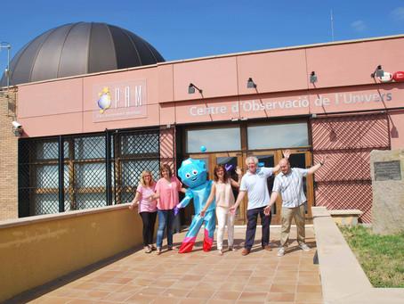Avui s'ha presentat BÒLID, la nova mascota del Parc Astronòmic Montsec (PAM)