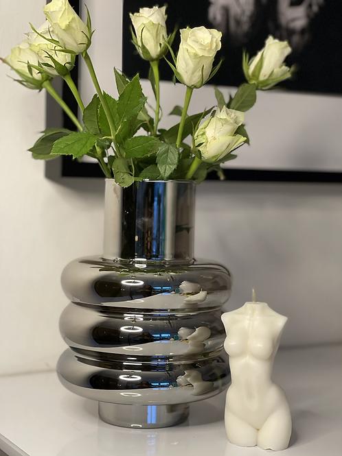 Silver  Bubble Vase