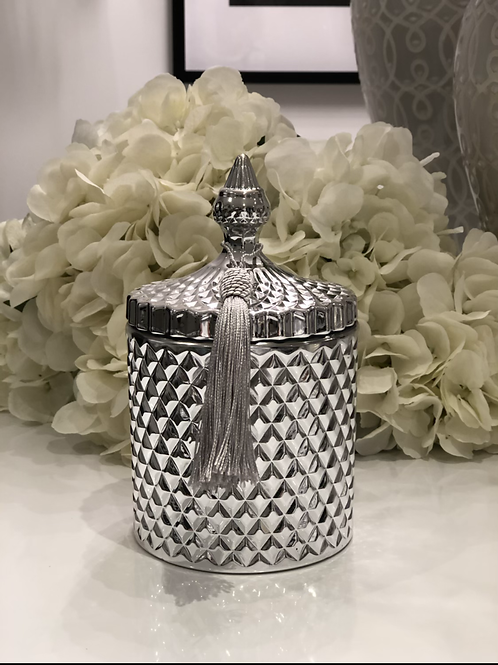 Silver - Large 3 Wick