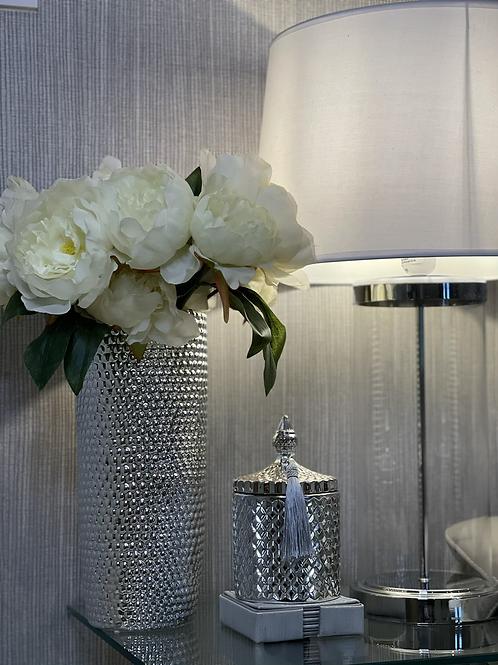 Silver Rockstud Vase