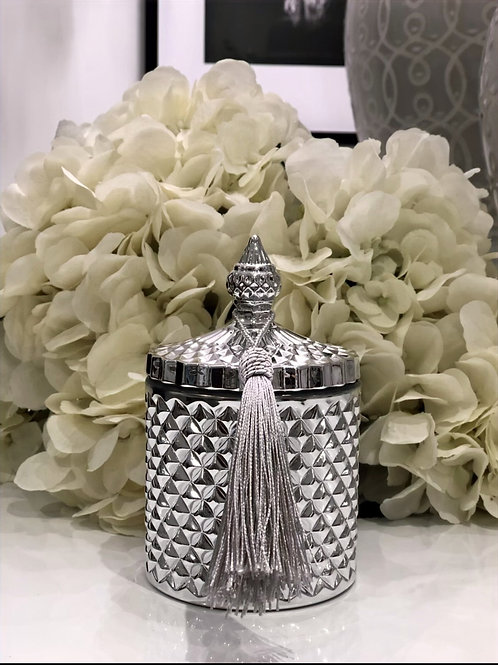 Silver Geo Candle