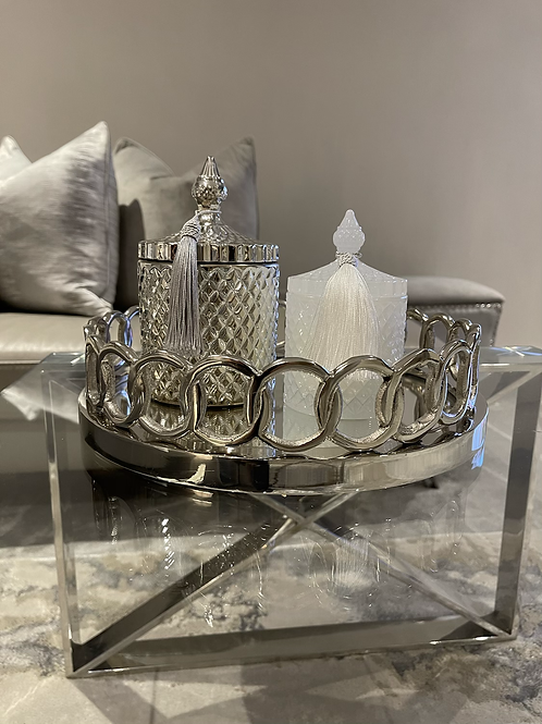 Large mirrored styling tray