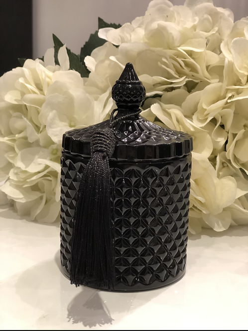 Black Gloss Geo Candle