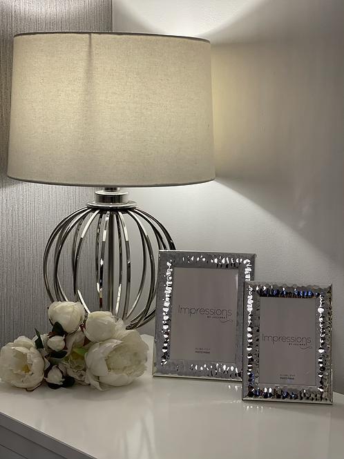 Silver hammered effect frames