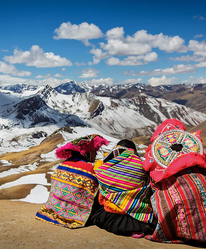Persons Contemplating the Andes in Perú.