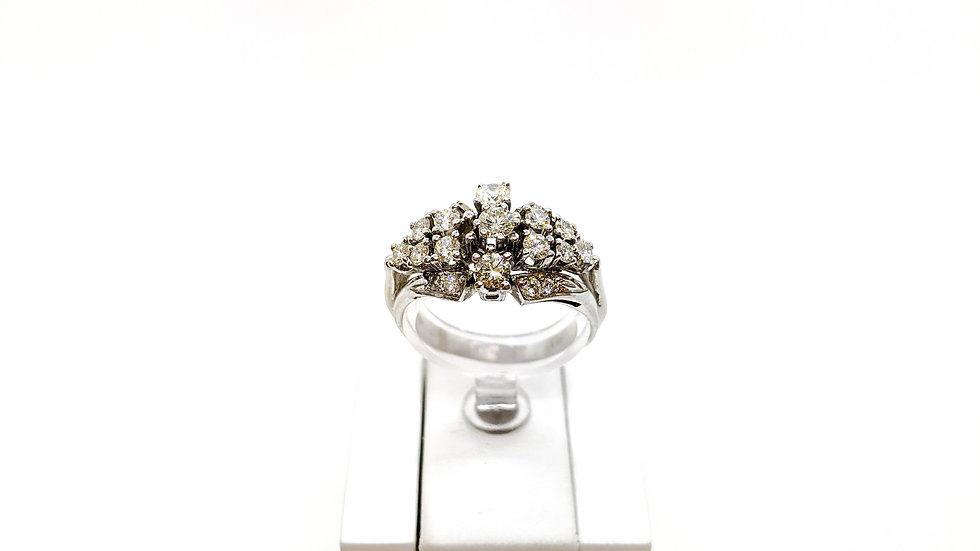 """Złoty pierścionek z diamentami """"Korona"""""""