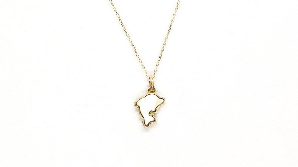 Wisiorek złoty Dolphin