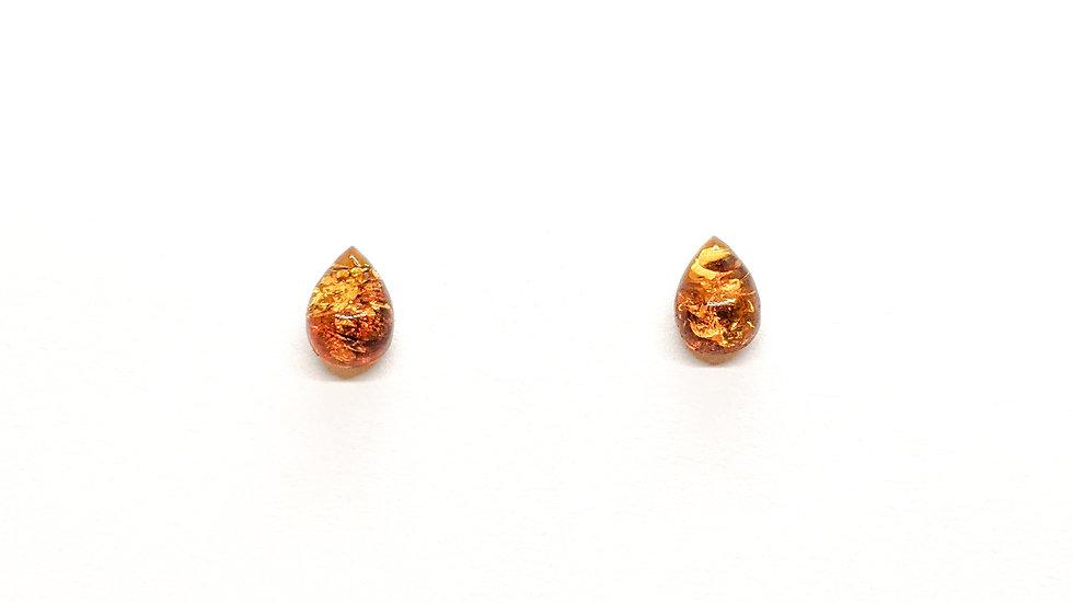 Kolczyki złote Krople