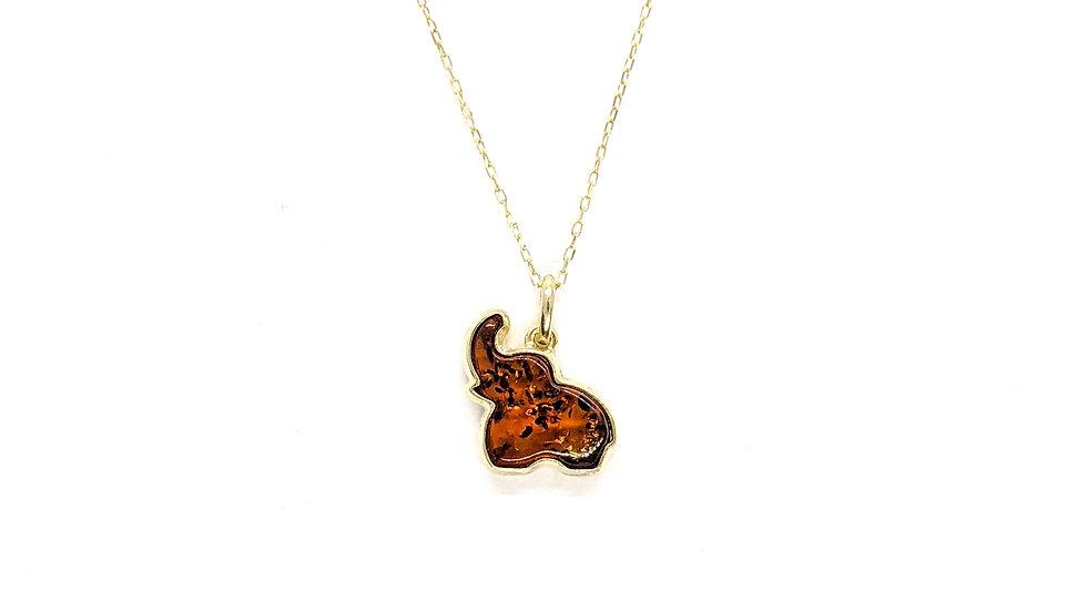Wisiorek złoty Elephant