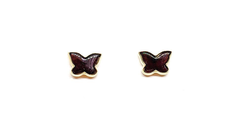 Kolczyki złote Butterfly