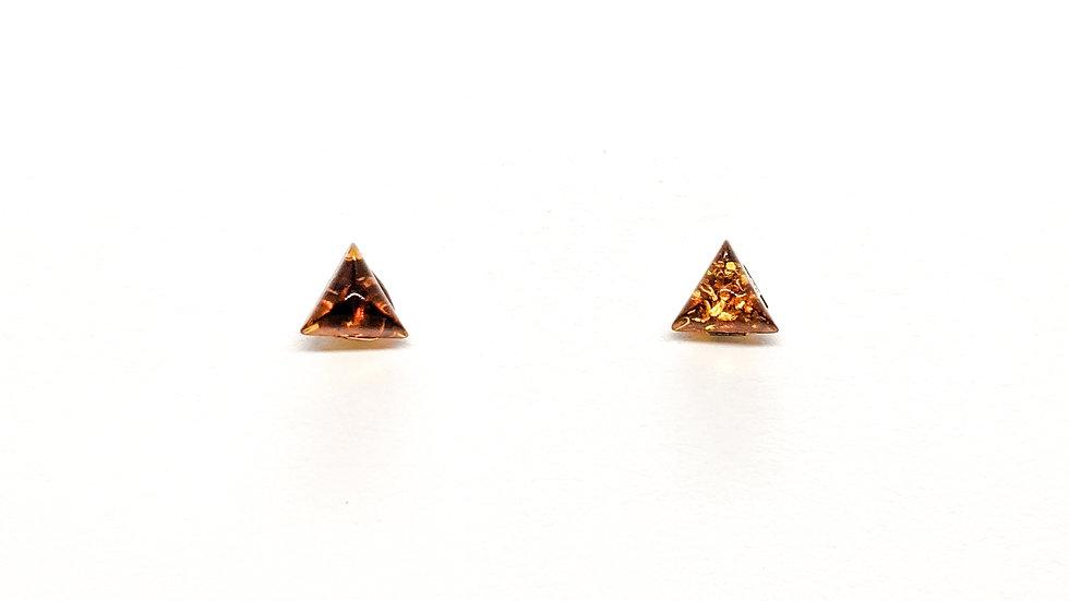 Kolczyki złote Triangles