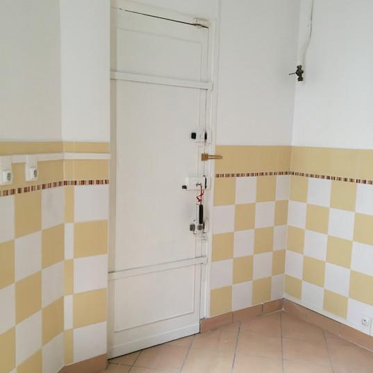 Kitchen and service door