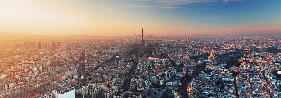 Photo du Paris d'en haut, au coucher du soleil