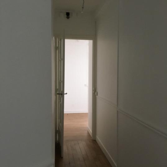 Corridor from front door to rear kitchen, bathroom, WC