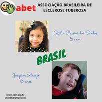 Giulia Passini - 5 anos; Joaquim Araújo - 6 anos