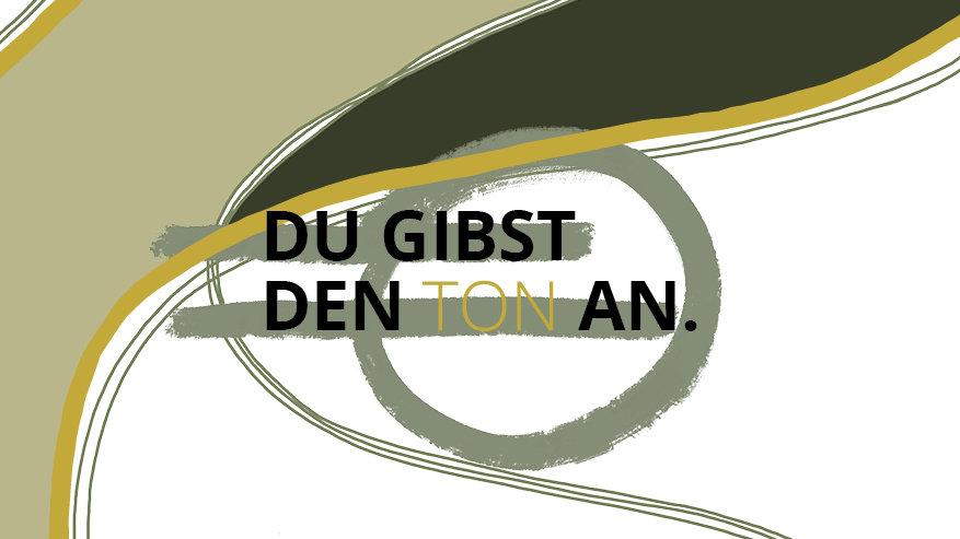 "Postkarte ""Du gibst den Ton an"""