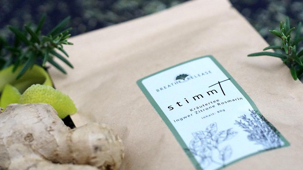 StimmT - Kräutertee Ingwer-Zitrone-Rosmarin