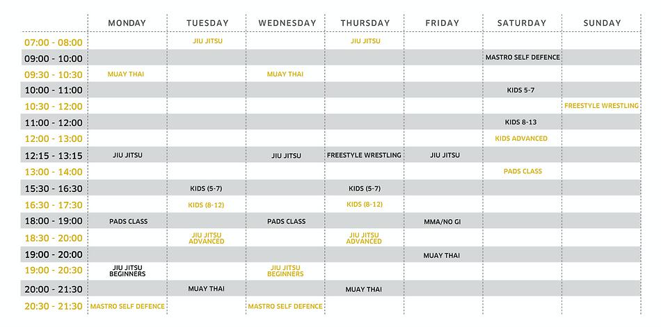 Uplay timetable