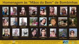 Homenagem às costureira voluntárias que confeccionaram as máscaras sob coordenação do Instituto Tartabinhas