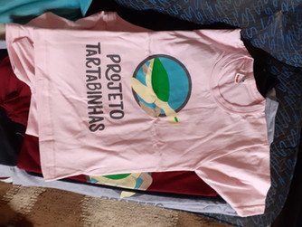 Camisetas do Projeto Tartabinhas