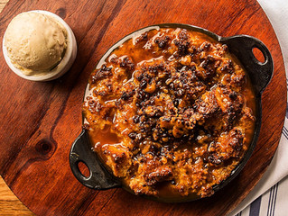 Bread Pudding For Two With Candy Cap Mushroom Ice Cream
