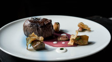 Tenderloin Of Beef With An Assortment Of Sunchokes, Horseradish Cream & Beef Jus
