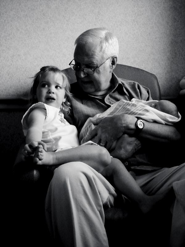 Cailey, avô e Heidi