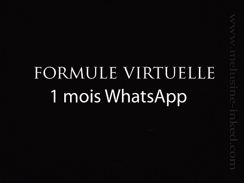 Formule virtuelle whatsApp // 1 mois