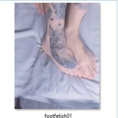 VIDEO // foot fetish 01