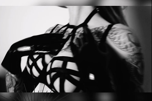 VIDEO // Fetish lingerie harness / backstage 05