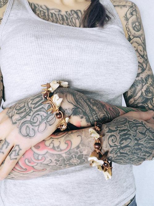 Bracelet // molaires de loup